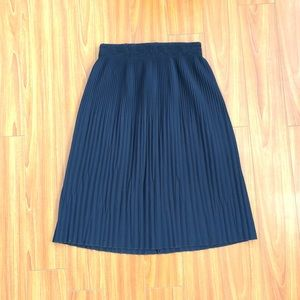 Zara Skirts - Zara Navy Pleated Skirt